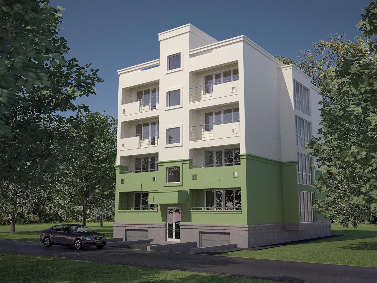 Жилой дом на 8 квартир